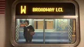 NYC Subway First Look: Transitioning R160 (W) Exterior Destination Sign