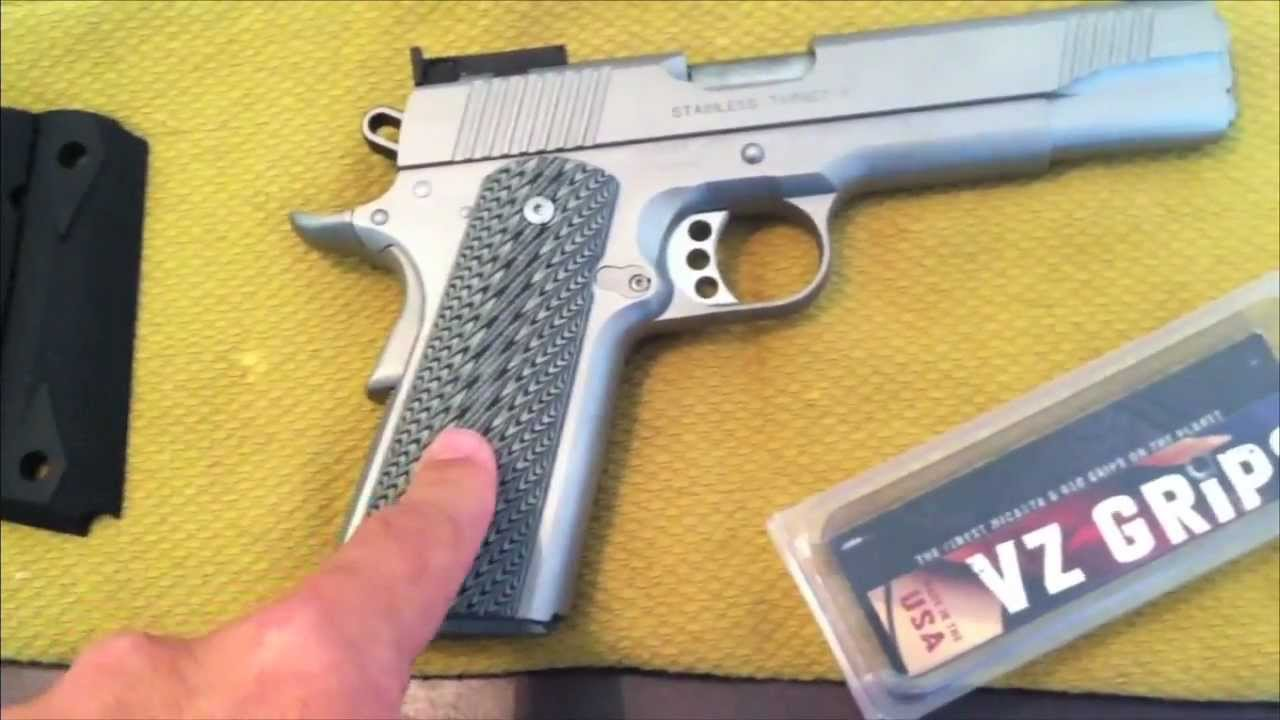 Kimber Stainless Target II with VZ Grips
