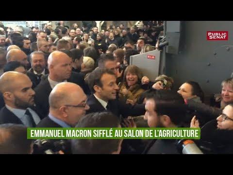 Macron sifflé au Salon de l'Agriculture