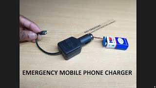 How To Make Emergency Mobile Charger | How to make USB Mobile Charger With Car Charger