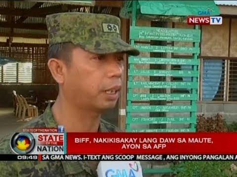 SONA: BIFF, nakikisakay lang daw sa Maute, ayon sa AFP