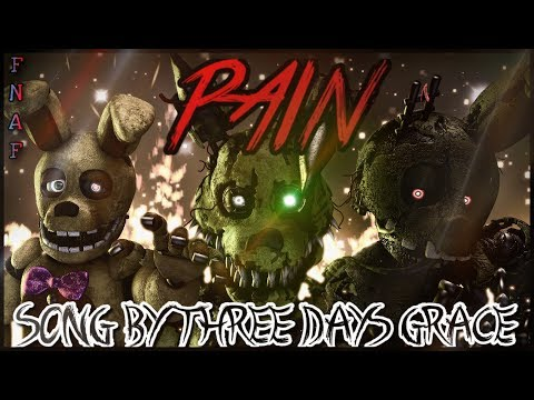 """[SFM/FNAF/SONG] - """"PAIN REMASTERED"""" Song by Three days Grace"""