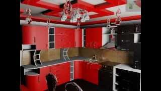 Дизайн кухни сочетание черного и красного в фасадах кухонной мебели(Отделка ванной комнаты, как и обычной комнаты, а также может и все5й квартиры начинается с подготовки поверх..., 2014-11-16T14:15:12.000Z)