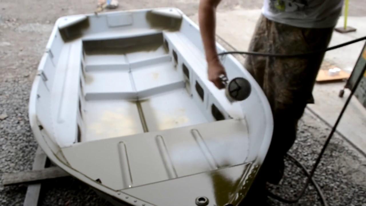 Покраска лодки в камуфляж своими руками