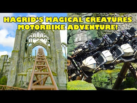 Hagrid's Magical Creatures Motorbike Adventure! Front Seat/Off Ride POV Preview! 4K