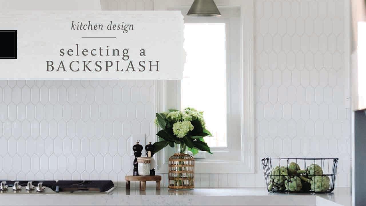 choose the perfect kitchen backsplash