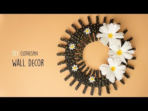 DIY Clothespin Wall Decor |  Wall Hanging Craft Ideas