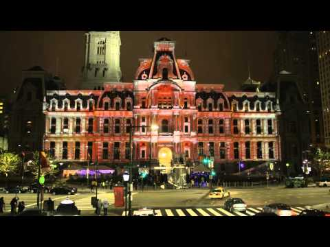 Red Bull 'Art of Can' 3D Projection Lights Up Philadelphia City Hall