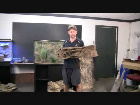 Installing A Custom 3d Rock Background Wall In Aquariums