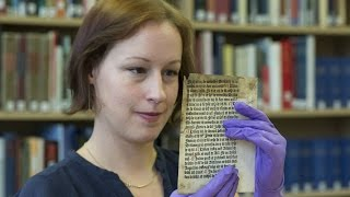 'Incredibly rare' example of early printing found at University of Reading