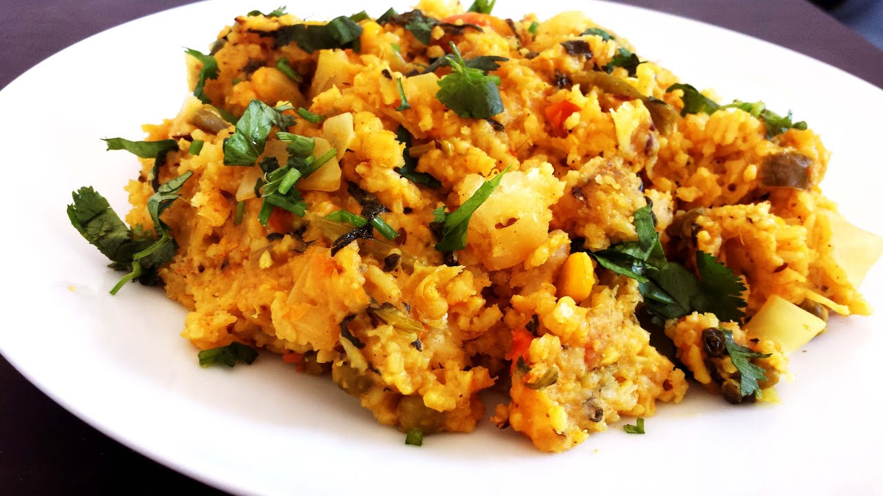 Spicy vegetable khichdi one pot meal with vegetables lentils and spicy vegetable khichdi one pot meal with vegetables lentils and rice vegetarian recipe youtube forumfinder Images