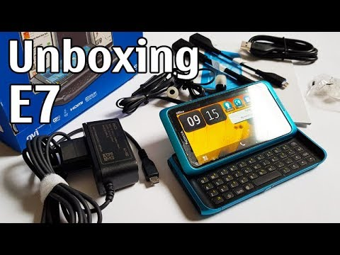 Nokia E7 Blue 4K with all original accessories Nseries RM-626 review