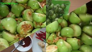 Cách làm cà pháo chua ngọt đơn giản tại nhà_Salted garden egg