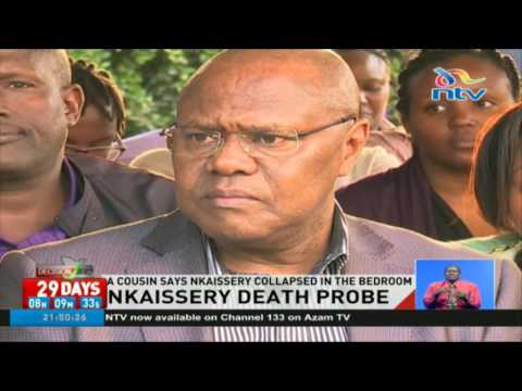 Family and govt spokespersons to give daily updates on Nkaissery's death probe