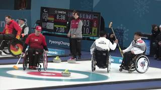 Wheelchair Curling live video : ) Paralympics 2018 (3of4)
