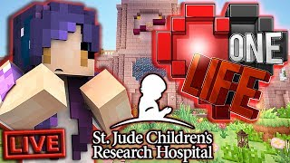 🔴 LIVE: One Life Minecraft SMP | St. Jude PLAY LIVE Charity Stream!
