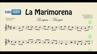 La Marimorena Partitura de Trompeta y Fliscorno Ande ande ande