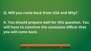 b1 b2 US  business and visitor visa interview questions and answers