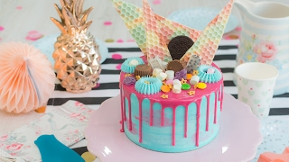 how to cover a cake in ganache video