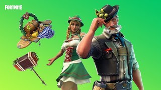 Fortnite new skins. LUDWIG AND HEIDI - AXCORDION,OKTOBERFEST