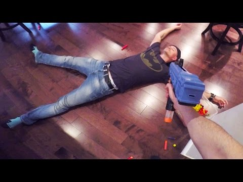 NERF FIGHT CLUB!  First Person Shooter Gun Game!
