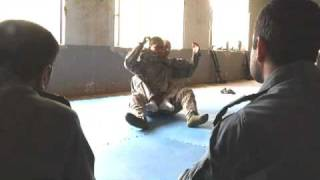 U.S. Soldiers Teach Afghan National Army And Afghan National Police Combatives