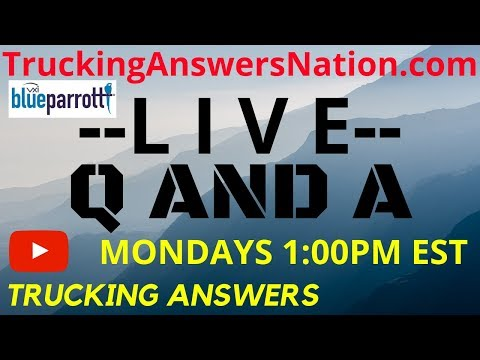 🔴 Q And A Live | OTR With No Sleeper | ELD Pay And You | Trucking Answers
