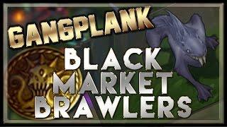 Black Market Brawlers Gameplay (Gangplank Top/Razorfin Brawler) - League of Legends