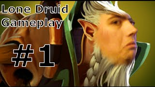 Dota 2 Gameplay (German) | Lone Druid Solo Offlane Gameplay #1