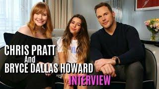 Teen Advice with Chris Pratt & Bryce Dallas Howard (Jurassic World)| Sophia Grace