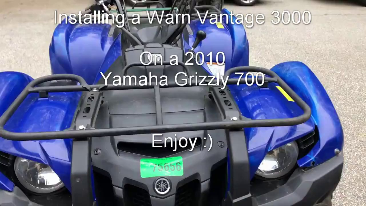 hight resolution of 2010 yamaha grizzly 700 warn vantage winch install