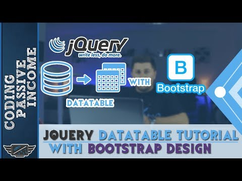 jQuery DataTable Tutorial With Bootstrap Design For Beginners thumbnail