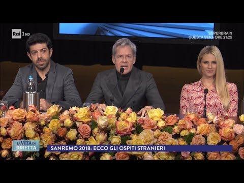 Chi saranno i super ospiti del Festival di Sanremo 2018? - La Vita in Diretta 26/01/2018