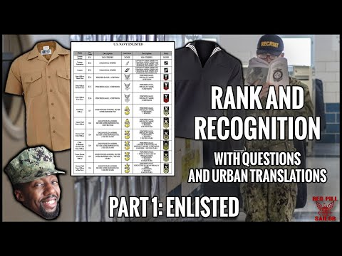 Navy Rank And Recognition Part 1: Enlisted Rates (With Urban Translations)