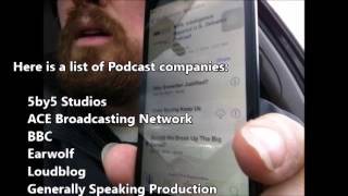 Vlog: Favorite Podcasts for a Homeless Man; also, iPod battery is getting bad.