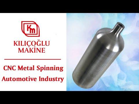 Metal spinning work of pressure vessel shells