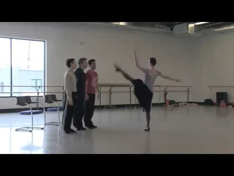 "Artists of Colorado Ballet rehearse ""Fancy Free"" for ""Ballet MasterWorks"""