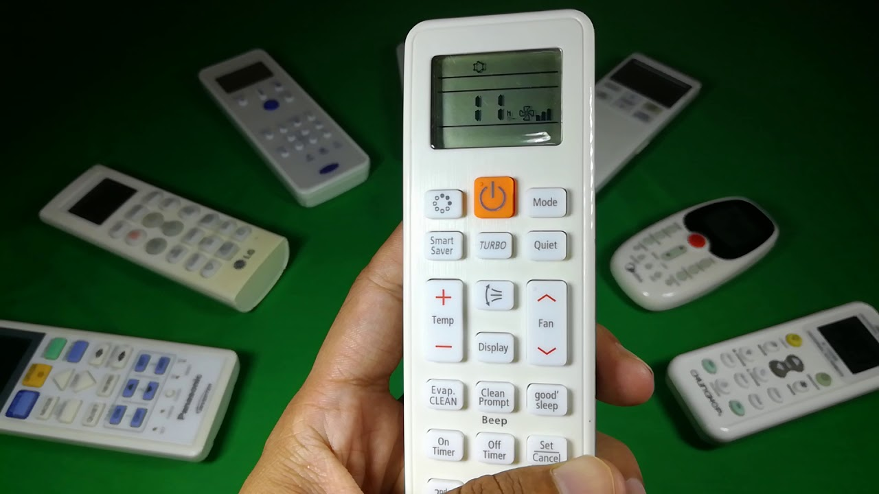How to set on and off time for Samsung AC remote control