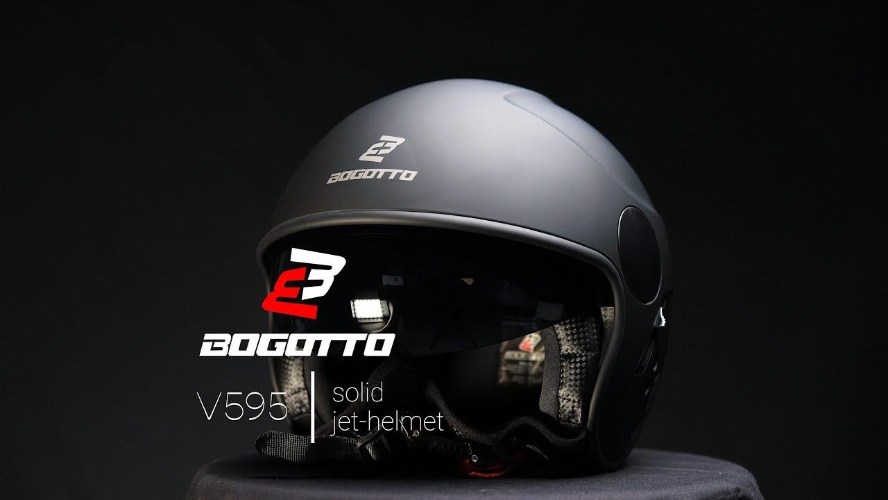Bogotto V586 Detri Casque jet Noir mat//Gris