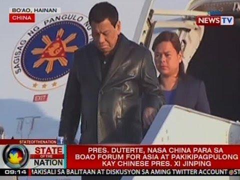 SONA: Pres. Duterte, nasa China para sa Boao Forum for Asia at pakikipagpulong kay Pres. Xi Jinping