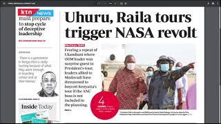 Uhuru, Raila tours trigger NASA revolt | The Standard