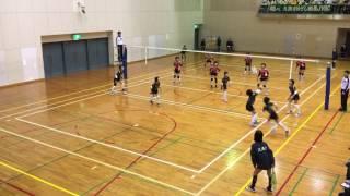 2016福岡県選抜バレーボール大会準決勝.