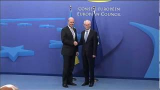 Meeting with the Swedish Prime Minister, Fredrik REINFELDT