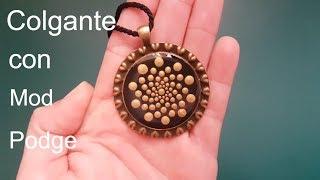DIY: Colgante Mandala con Mod Podge