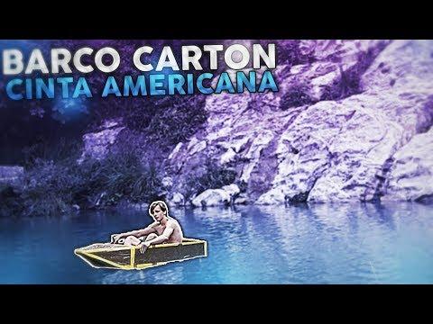 CREAMOS UN BARCO DE CARTON Y CINTA AMERICANA Y LO METEMOS EN EL RIO!