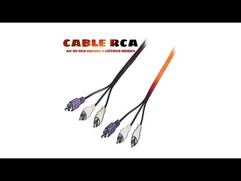 Video de Cable AV 3x RCA macho 2 M Negro