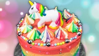 Rainbow Unicorn Cake From Cookies Cupcakes And Cardio