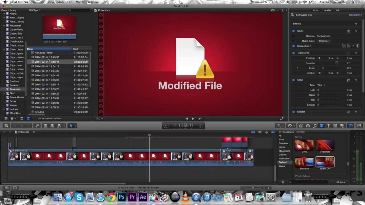 how to make final cut pro file smaller