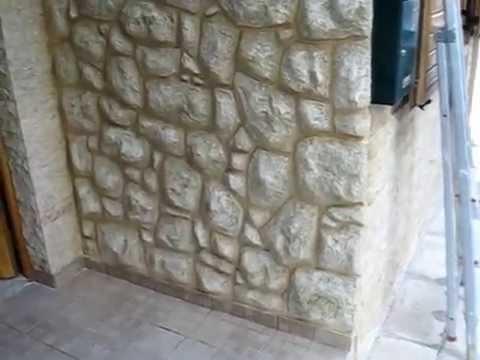 Πρόσοψη Τεχνοτροπία τοιχου, χαραχτό επίχρισμα πέτρα    4