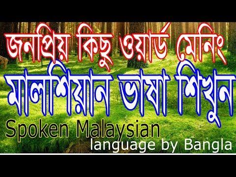 Learn Bangla to Malaysian Language - Bangla to malay basha Tutorial - free language course video